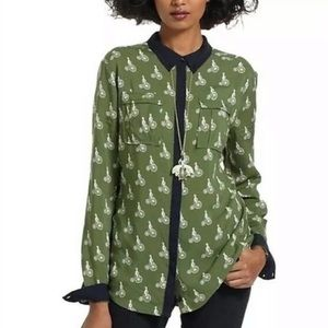 Anthropologie Maeve Bagatelle Bicycle Blouse